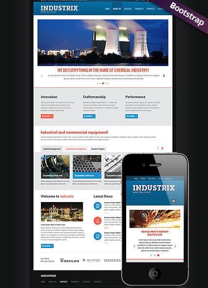 Heavy Industry  Website Design