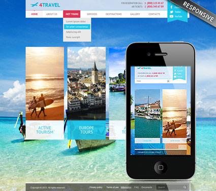 Travel v3 Website Design
