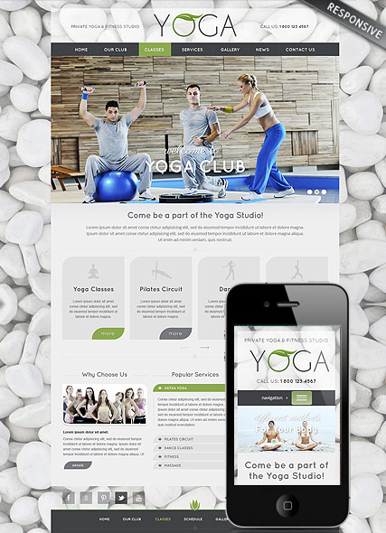 Yoga Club Website Design