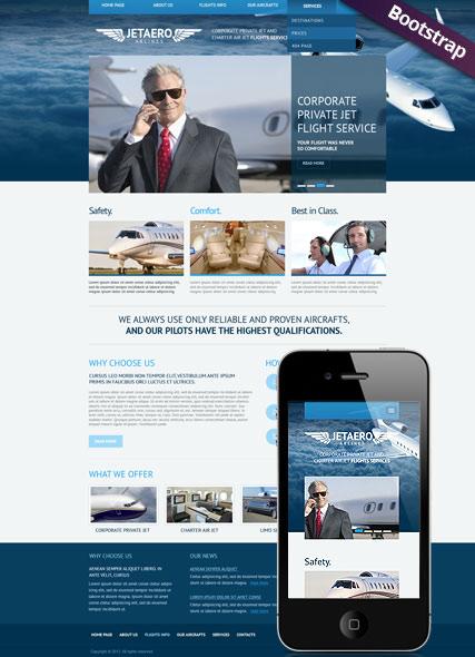 Private Airline Website Design