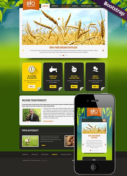 Eco Agriculture Website Design