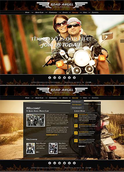 Biker Club Website Design