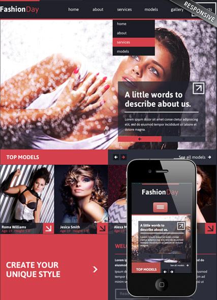 Model Agency Website Design