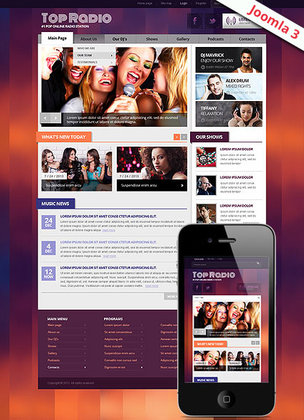 Top Radio v3 Website Design