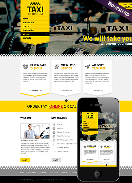 Taxi Service Website Design