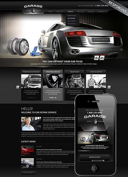 Car Repair Service Website Design