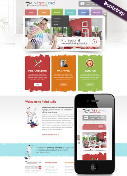 House Painting Website Design