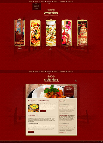 Indian Restaurant Website Design
