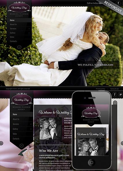 Wedding Planner Website Design