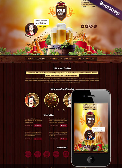 Beer Pub Website Design