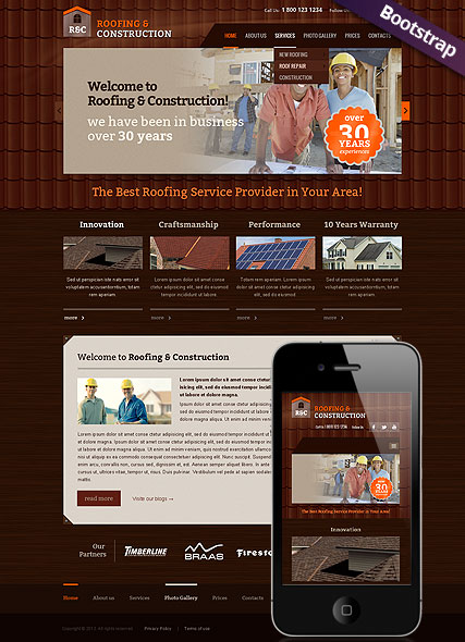 Roofing and construction Website Design