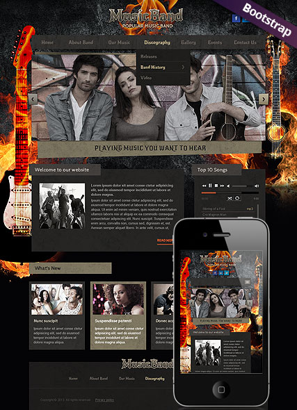 Music Band Website Design