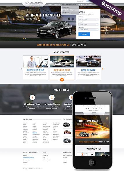 Rent a Car Website Design