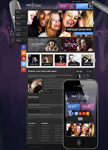 Radio Website Design