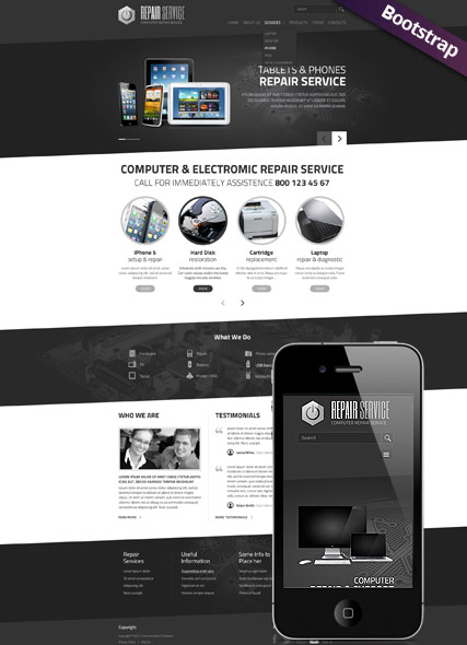 PC repair service Website Design