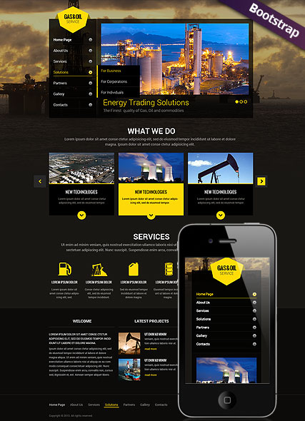 Gas and Oil Website Design