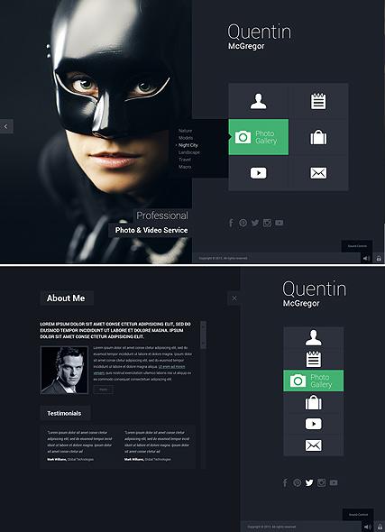 Photo & Video Service Website Design
