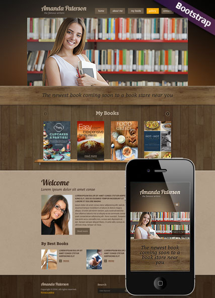 Book Writer Website Design