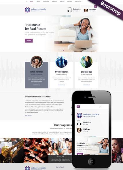 Radio Online Website Design