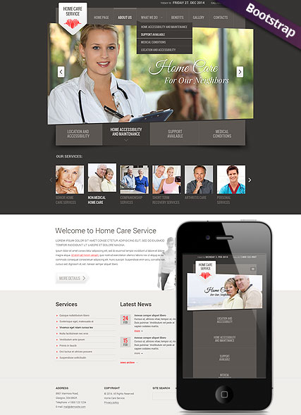 Home care service Website Design