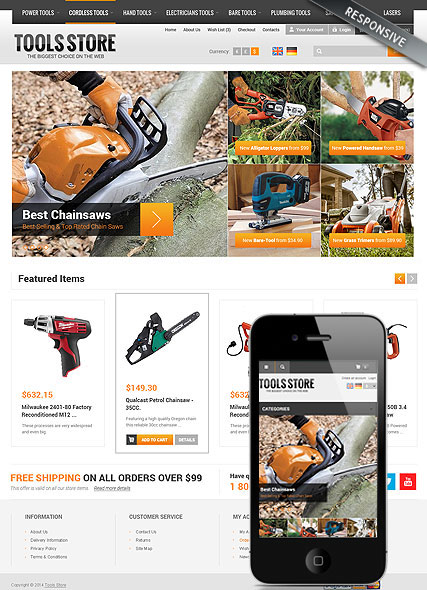 Tool Store Website Design