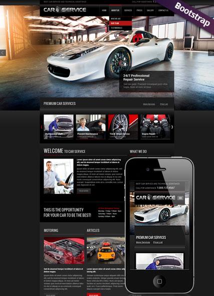 Car service Website Design