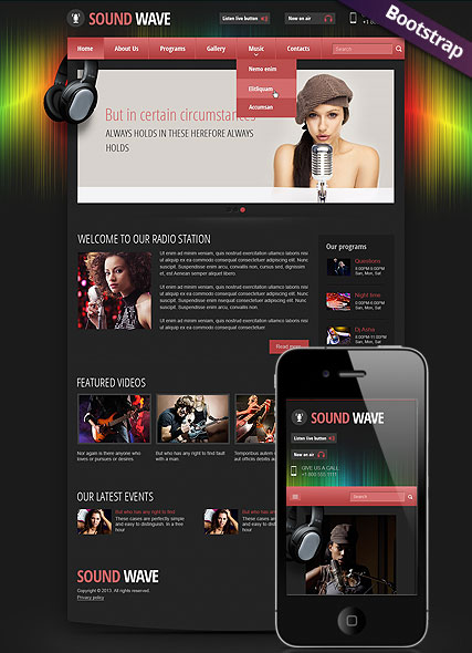 Sound wave radio Website Design