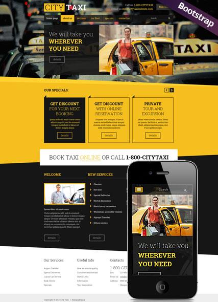 Taxi Service Website Design