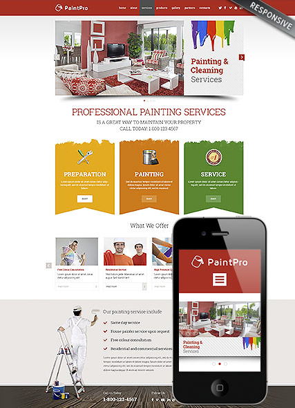 Painting co Website Design