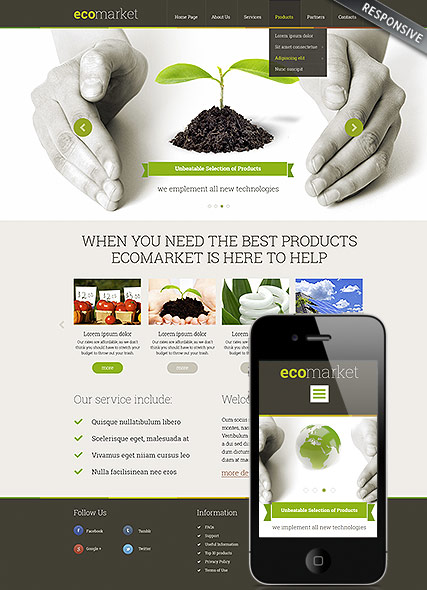 Ecology Products Website Design