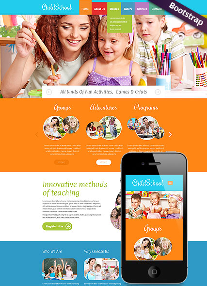 Children School Website Design