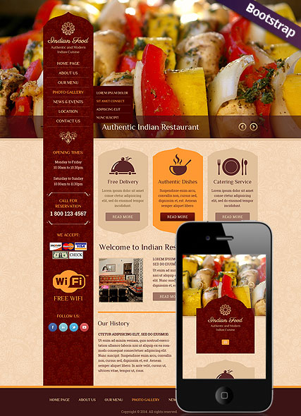 Indian Food Website Design