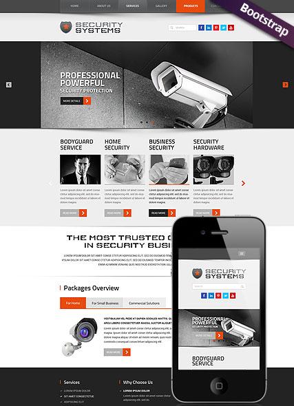 Security Service Website Design