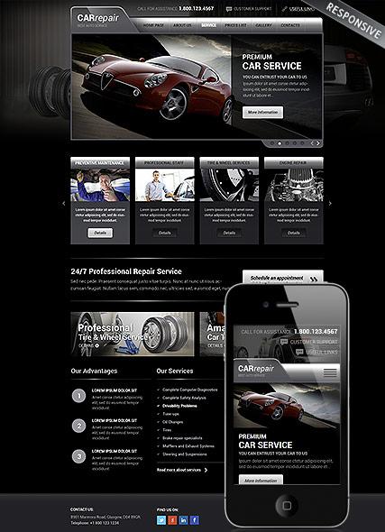 Auto service Website Design