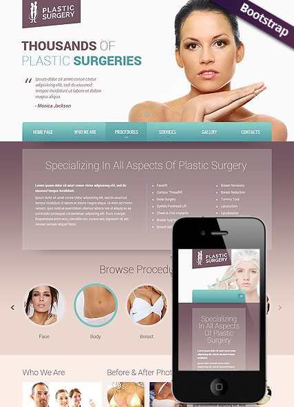 Plastic surgery Website Design