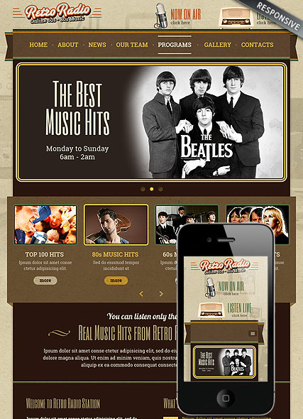 Retro Radio Website Design