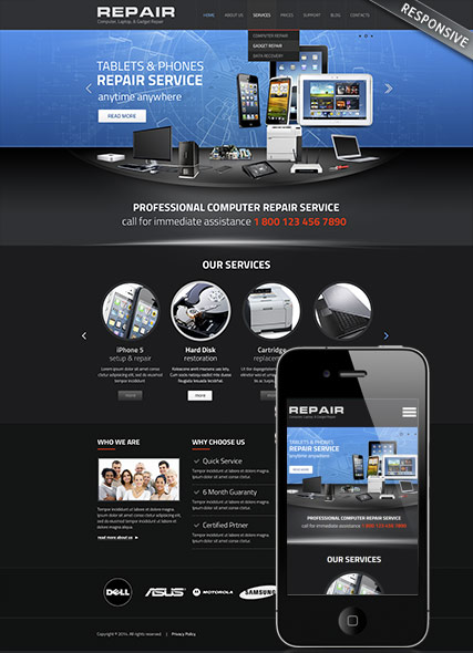 Computer repair Website Design