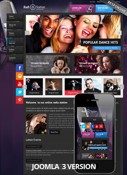 Radio v3 Website Design