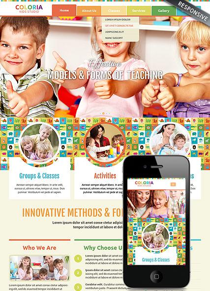 Kids studio Website Design