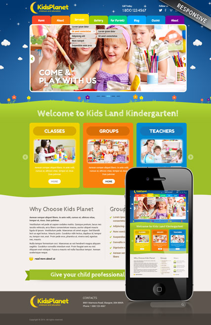 Kids Planet Website Design