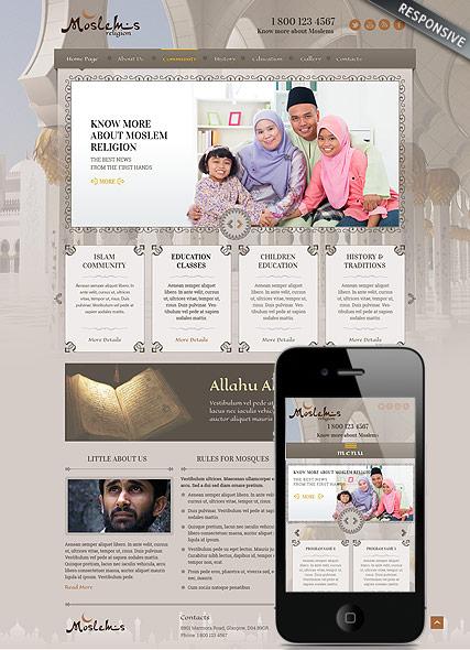Muslim religion v3 Website Design