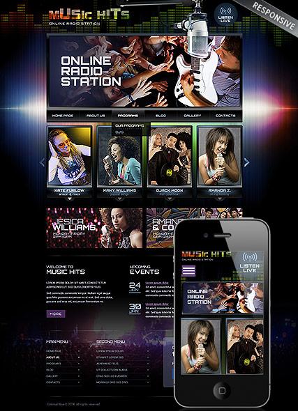 Online Radio Station Website Design