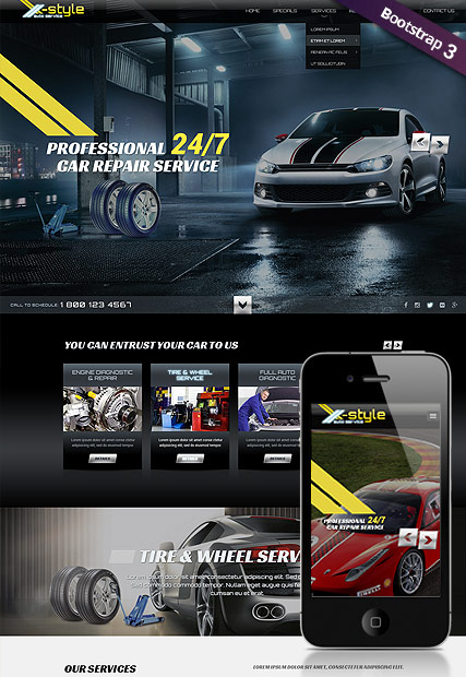 Auto service Website Design