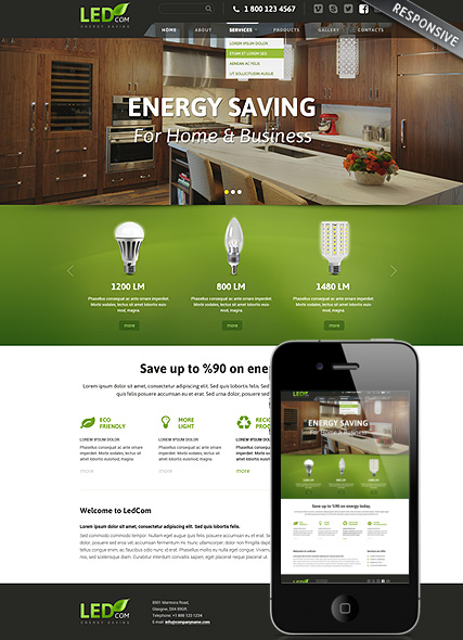 Energy saving Website Design