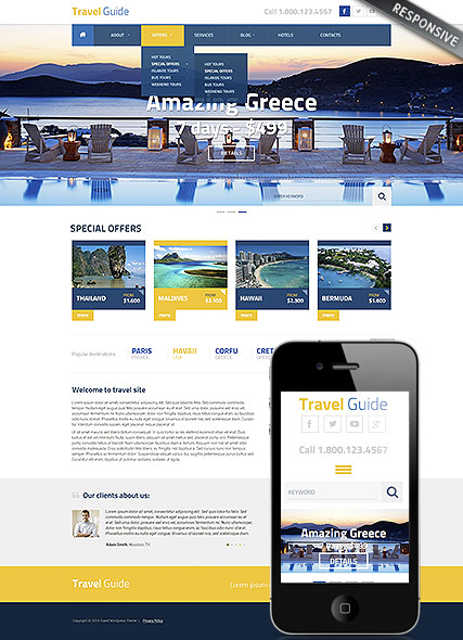 Travel Guide Website Design