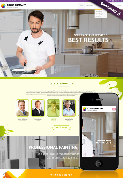 Paint co Website Design