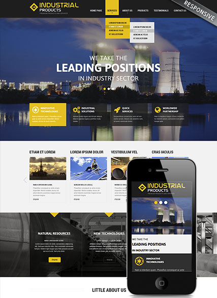 Industrial products Website Design