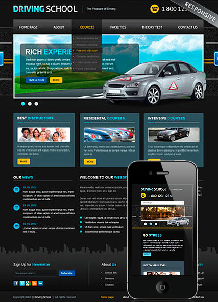 Driving School v3 Website Design