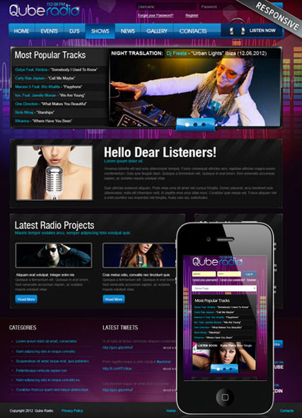 Radio ST v3 Website Design