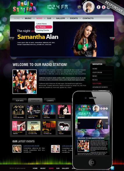 Radio FM v3 Website Design